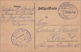 Feldpost I. WK: Neunkirchen 1916 Nach Kirn - Besetzungen 1914-18