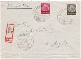 Lothringen 1940: Einschreiben Aus Metz - Occupation 1938-45