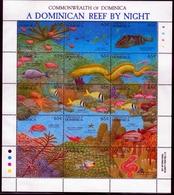 Dominica MiNr. Klbg. 1552/81 ** Leben Am Riff Bei Tag Und Nacht, Fische - Dominica (1978-...)