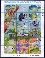 Dominica MiNr. 1292/1309 ** Meerestiere, Fische - Dominica (1978-...)