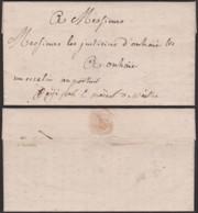 """BELGIQUE 1794 LETTRE DE NAMUR MANUSCRIT""""UN ESCALIN AU PORTEUR""""VERS ONHAYE (DD) DC-3811 - 1790-1794 (Révol. Autrich. Et Invas. Franç.)"""