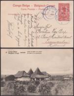 "CONGO BELGE EP CP6 NON SURCHARGE OBL ""B.P.C.V.P.K./N°6 20/04/1917 VERS PAYS-BAS (DD) DC-3815 - Entiers Postaux"
