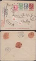 BELGIQUE EP 10c ROUGE +COB 74+76+83 EN RECOMMANDE DE MALINES 14/07/1909 VERS DANEMARK  (DD) DC-3826 - 1905 Grove Baard