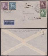 BELGIQUE COB 430+431+433+434 PAR AVION DE EUPEN 21/9/1939 VERS LIMA PEROU  (DD) DC-3827 - 1936-51 Poortman