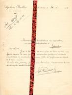 Brief Lettre - Burgemeester Stéphane Poullier - Domaine De Peene  Wachtebeke - Naar Kadaster 1923 + Brief Met Antwoord - Vieux Papiers