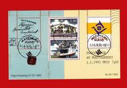(5) ALAND ° -1993 - BF. 2. Indipendenza Postale Dalla Finlandia. Timbrato. - Aland