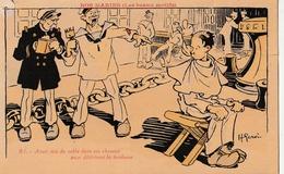 HUMOUR - Nos Marins : Les Beaux Motifs - Avoir Mis Du Sable Dans Ses Cheveux ...... - Humour