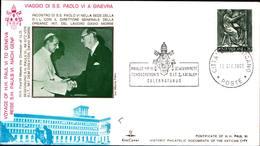 12976a)F.D.C.vaticano Serie Completa PaoloVI A Ginevra 10-6-69 - FDC