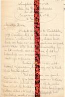 Brief Lettre - A. Ramont Langelede  Wachtebeke - Naar Kadaster 1922 + Brief Met Antwoord - Vieux Papiers