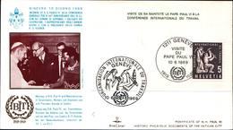 12977a)F.D.C.vaticano Serie Completa PaoloVI A Ginevra 10-6-69 - FDC