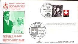 12979a)F.D.C.vaticano Serie Completa PaoloVI A Ginevra 10-6-69 - FDC