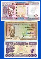 Guinée 3  Billets - Guinea