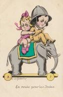 ENFANTS - En Route Pour Les Indes ( Illustrateur ) - Taferelen En Landschappen