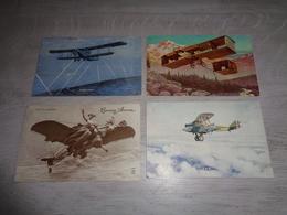 Beau Lot De 10 Cartes Postales De Fantaisie Aviation  Avion   Mooi Lot Van 10 Postkaarten Van Fantasie Vliegtuig - Cartes Postales