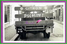 61 Orne ARGENTAN Reproduction Photo Papier - Dans La Rue Du Collége - Camion Transport E FRESNY Citron PSCHITT ! - Reproductions