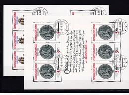 (K 4420c) Tschechoslowakei, KB 3051/52, Gest. - Blocks & Sheetlets