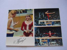 Gymnastics роstсаrd Olga 1975 Korbut - Gymnastique