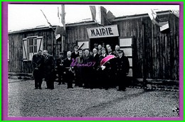 61 Orne ARGENTAN Reproduction Photo Papier - La Mairie Le Dr Couinaud - Le Capitaine Des Pompiers Le Maire M. Denis - Reproductions