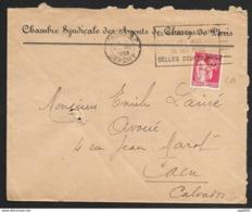 Enveloppe Avec Paix 50c Perforé C.A-Ancoper C.A 17-Cachet Paris - France