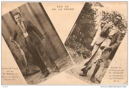 28 Eure & Loir - Les AS De La Pêche - à DREUX Mr PINEAU - Et CHATEAUDUN Mr NICOLAS - Carte Publicitaire Du FIL DIAMANT - Francia