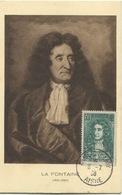LA FONTAINE (Yvert N° 397) Carte Maximum 1er Jour CHATEAU - THIERRY / 1938 - 1930-39