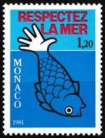 Timbre-poste Gommé Neuf** - Protection De La Vie Marine - N° 1264 (Yvert) - Principauté De Monaco 1981 - Monaco