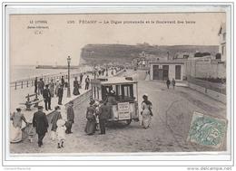 FECAMP : La Digue Promenade Et Le Boulevard Des Bains - AUTOBUS - Très Bon état - Fécamp