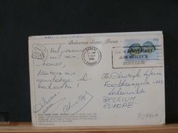 78/750A   CP BAHAMAS TO BELG. - Bahamas (1973-...)