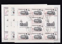 (K 4421e) Tschechoslowakei, KB 2911/15, Gest. - Blocks & Sheetlets