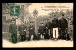 54 - IGNEY-AVRICOURT - DOUANIERS FRANCAIS ET ALLEMANDS PRES DES POTEAUX FRONTIERE - France