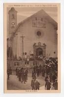 - CPA VALLOIRE (73) - Façade De L'Eglise - Sortie De La Messe (belle Animation) - Edition Lazier 5354-10 - - France