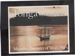 VV15 - TONGA - Bloc Feuillet 1 ** MNH De 1981 - Découverte De VAVA' U En 1781 - - Tonga (1970-...)