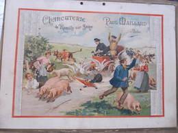 Carton Publicitaire ART NOUVEAU -  ROMILLY SUR SEINE - CHARCUTERIE PAUL MAILLARD - CALENDRIER 1903 - Affiches