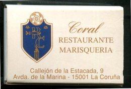 Espagne - Galicia - Boîte D'allumettes - Restaurante Coral Marisqueria - La Coruña - - Matchboxes