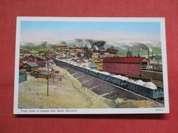Train Load Of Copper Ore  Butte  - Montana   Ref 3545 - Butte