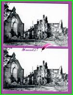61 Orne ARGENTAN Reproduction Photo Papier - Le Haut De La Rue Lautour Labroise Vers La Place Du Marché Bombardé 1944 - Reproducciones