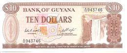 Guyana P-23c 10 Dollars 1983 UNC - Guyana