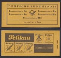 Bund Markenheftchen 4 X RLV II Heuss Postfrisch - Markenheftchen