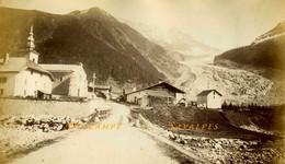 Chamonix * Argentière Et Le Glacier Vers 1875 * Photo Albumine 13 X 21cm - Voir Scans - Photographs