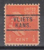 USA Precancel Vorausentwertung Preo, Locals Kansas, Vlirts 729 - Vereinigte Staaten