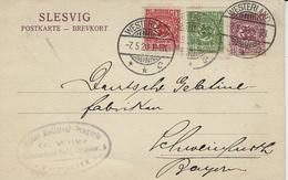 1920 -SLESVIG - Postkarte 15 Pf + 15 Pf From WESTERLAND - Settori Di Coordinazione