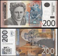 SERBIA - 200 Dinara 2011 {Narodna Banka Srbije} {Prefix AA000....} UNC P.58 A - Serbia