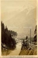 Chamonix Vers 1870 * Les Houches Pont Ste Marie (verso : Hôtel Tête Noire Trient) - Voir Scans - Photographs