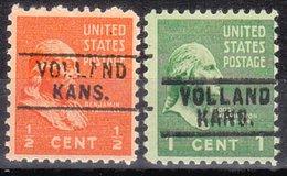 USA Precancel Vorausentwertung Preo, Locals Kansas, Volland 745, 2 Diff. - Vereinigte Staaten