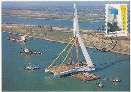 D37810 CARTE MAXIMUM CARD 1996 NETHERLANDS ERASMUS BRIDGE ROTTERDAM CP ORIGINAL - Bridges