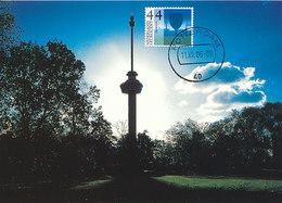 D37812 CARTE MAXIMUM CARD FD 2006 NETHERLANDS - ROTTERDAM EUROMAST - DETAIL ON STAMP CP ORIGINAL - Architecture