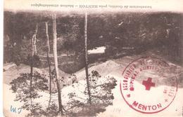 Alpes Maritimes :- MENTON  HOPITAL AUXILIAIRE N°222 - Poststempel (Briefe)