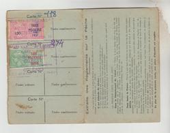 CARTE DEPARTEMENTALE DE PECHE N°1414 DU LOIRET - ERINNOPHILIE TIMBRE FISCAL 1956,1957, 1958 - Cartes