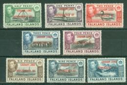 Falkland Islands Dep: 1944/45   KGVI - 'Graham Land' OVPT Set  SG A1-A8    MNH - Falklandinseln