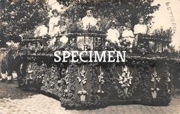 Fotokaart Praalwagen Bloemenstoet 1930 - WETTEREN - Wetteren